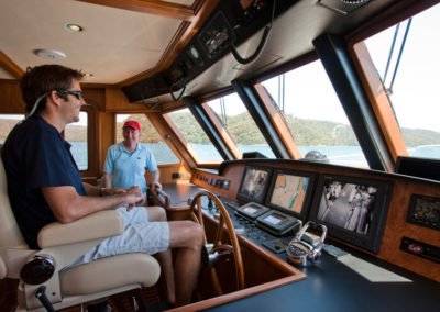 Aroona pilothouse