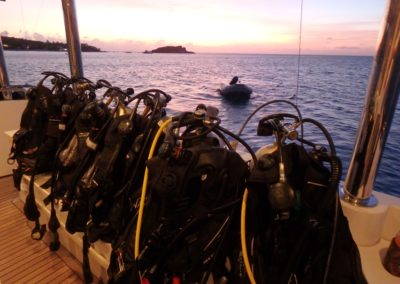 Dive deck sunset